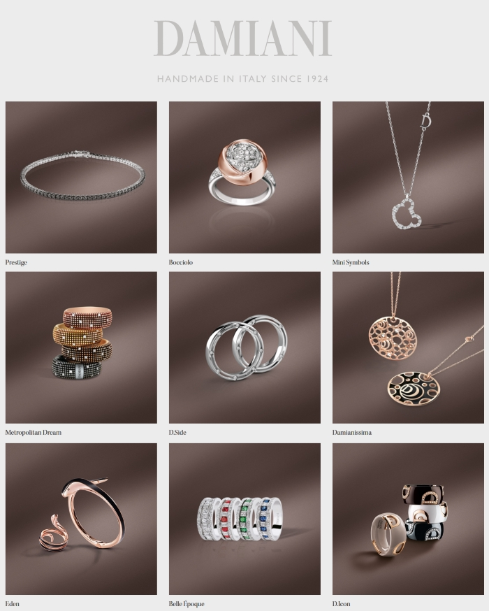 Damiani jewelry - rings, pendants, necklaces