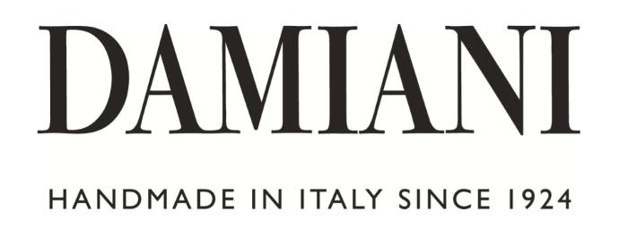 Damiani logo, logotype, wordmark