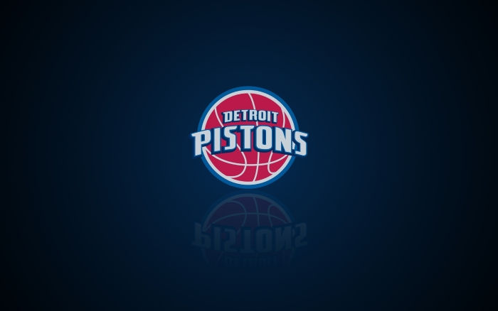 Detroit Pistons wallpaper with logo, widescreen 1920x1200, 16x10