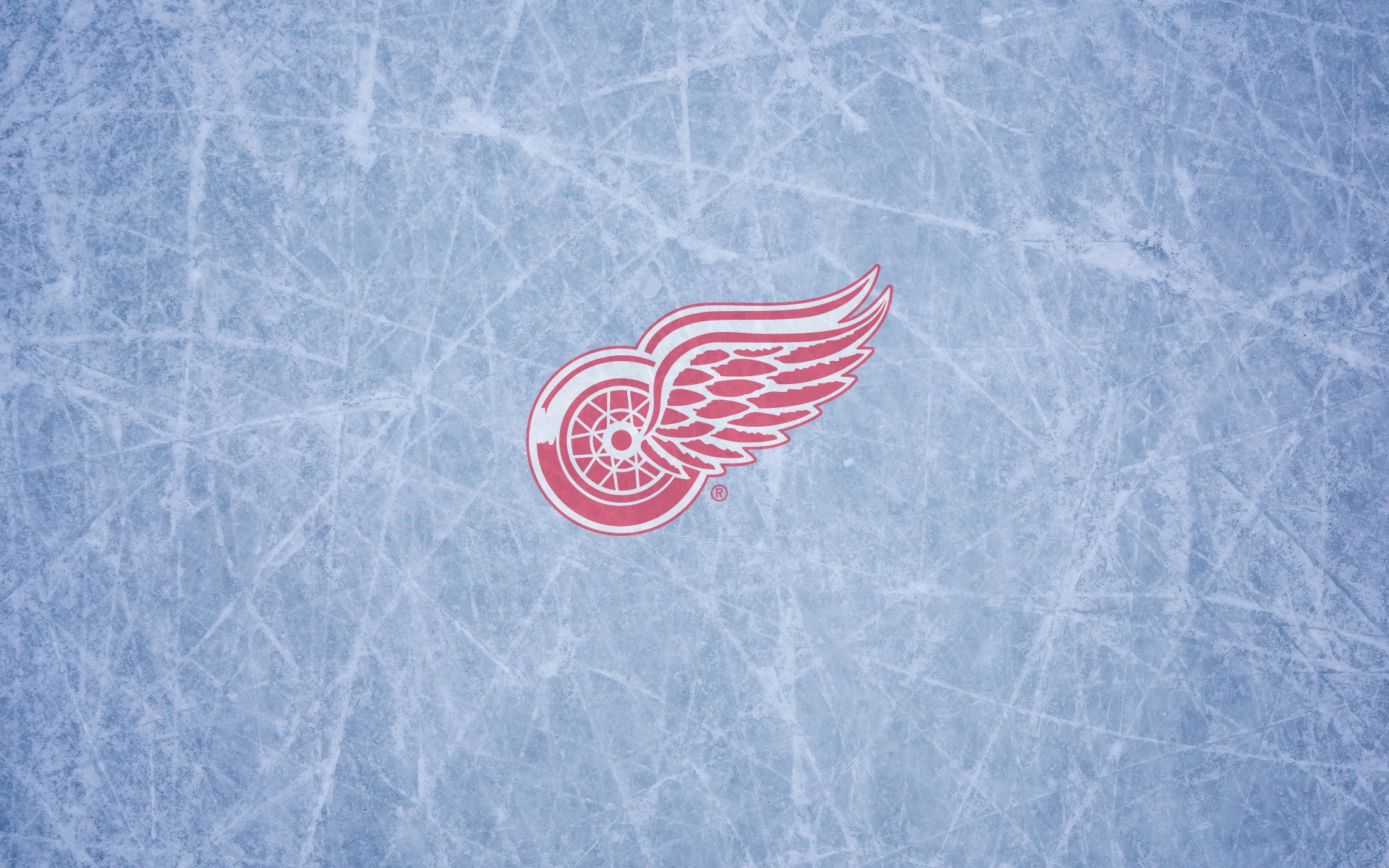 Detroit Red Wings Wallpaper Logo On The Ice 1920x1200
