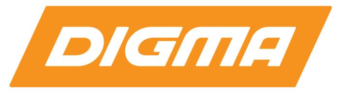 Digma logotype, logo, reverse