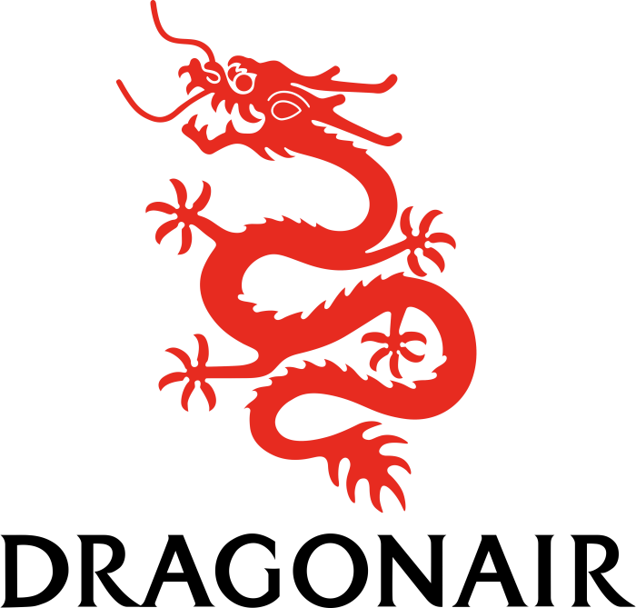 Dragonair logotype, logo, bright