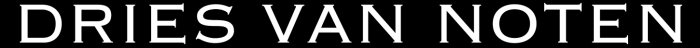 Dries Van Noten logotype, black version