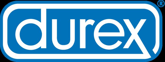Durex logo, logotype, emblem, blue