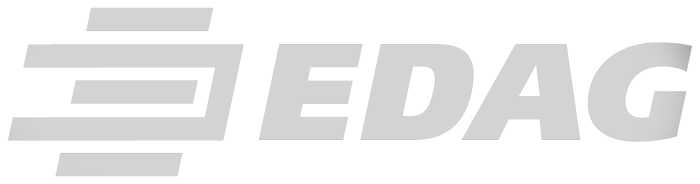 Edag logotype, light gray