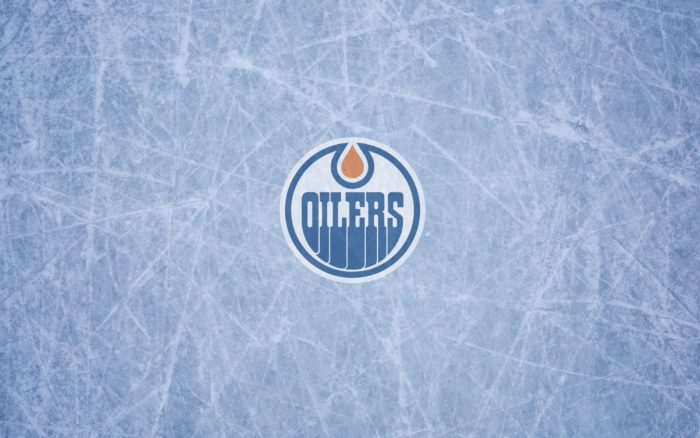 Edmonton Oilers wallpaper, logo, ice, widescreen 1920x1200