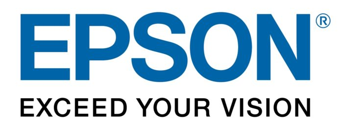 Epson logo and slogan (exceed your vision)