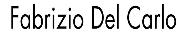 Fabrizio Del Carlo logotype, logo, black