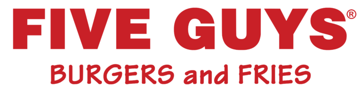 Five Guys logo, logotype, (burgers and fries)