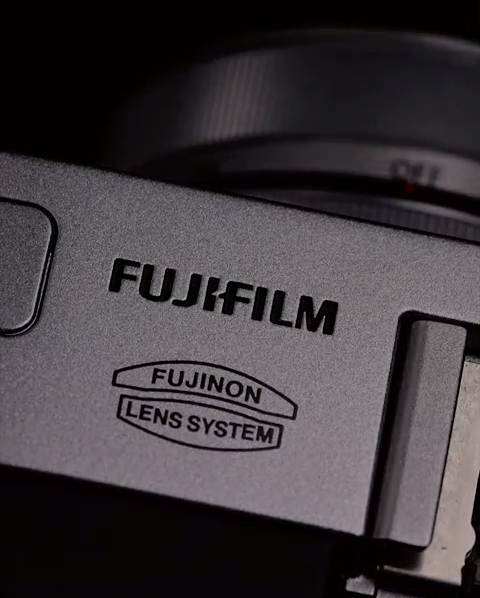 Fujifilm X30 digital cameras - logo close up
