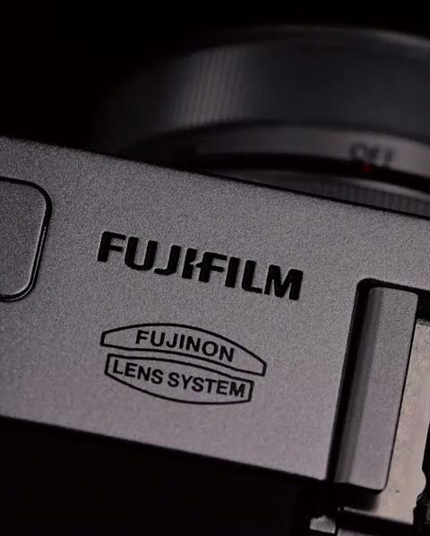 Fujifilm X30 digital cameras - logo close up