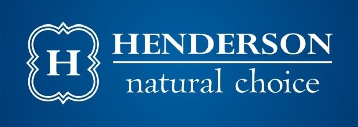 Henderson logo, logotype, emblem, blue