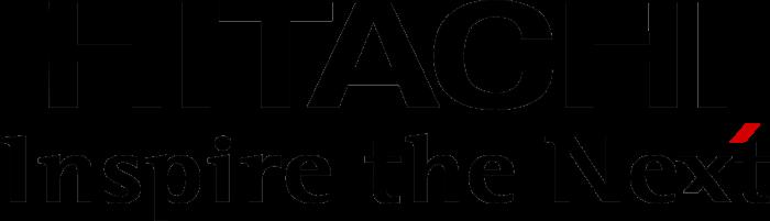 Hitachi logo, logotype, black