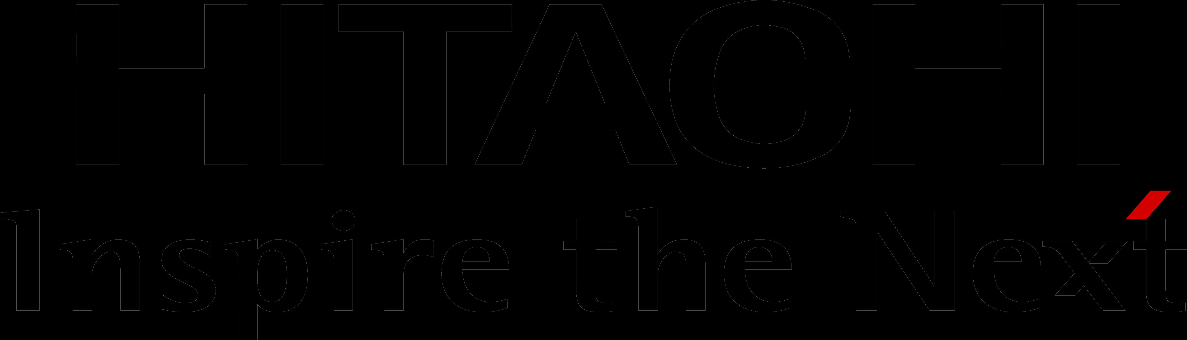 Hitachi logo logotype black
