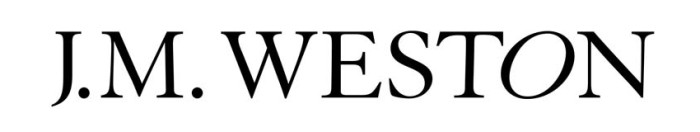 J. M. Weston logo, logotype, wordmark