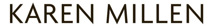 Karen Millen logo, wordmark, logotype