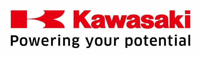 Kawasaki logo, slogan - Powering your potential