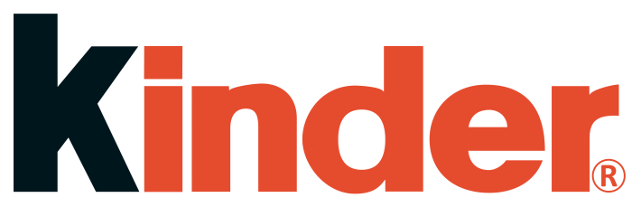 Kinder logo, wordmark, logotype