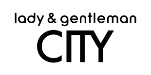 Lady and Gentleman CITY logotype, white