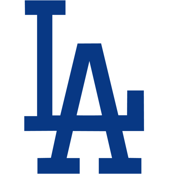 Los Angeles Dodgers logo, blue (LA)