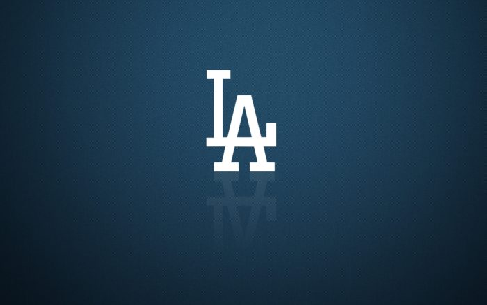 Los Angeles Dodgers wallpaper with white LA logo 1920x1200 px