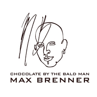 Max Brenner logo, black and white