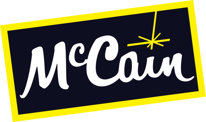 McCain logo, logotype, international