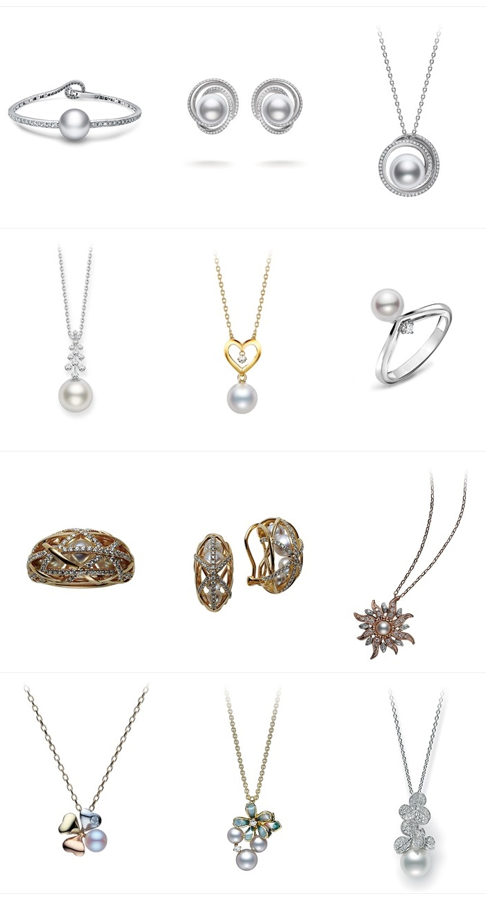 Mikimoto jewelry: rings, earrings, pendants