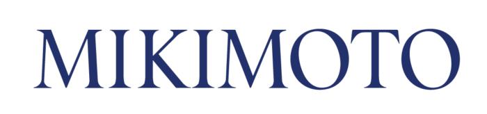 Mikimoto logotype, blue