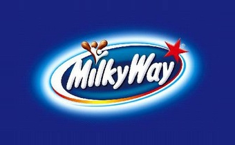 Milky Way logo, blue, European version