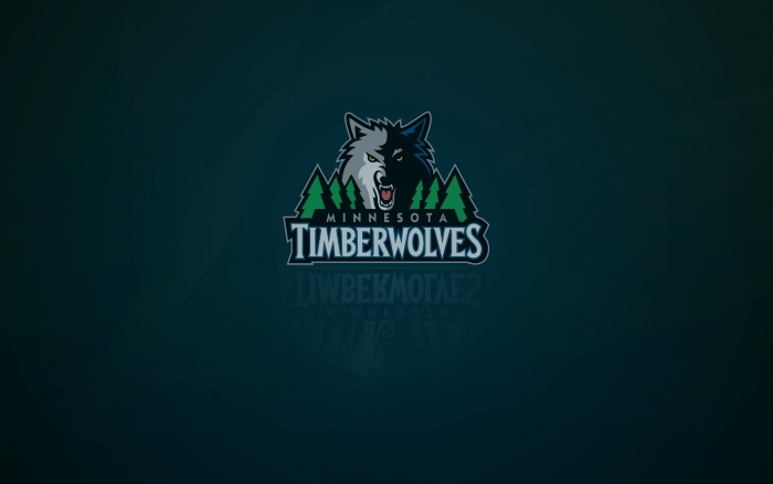 Minnesota Timberwolves wallpaper and logo with shadow on it, widescreen 16x10, 1920x1200 px