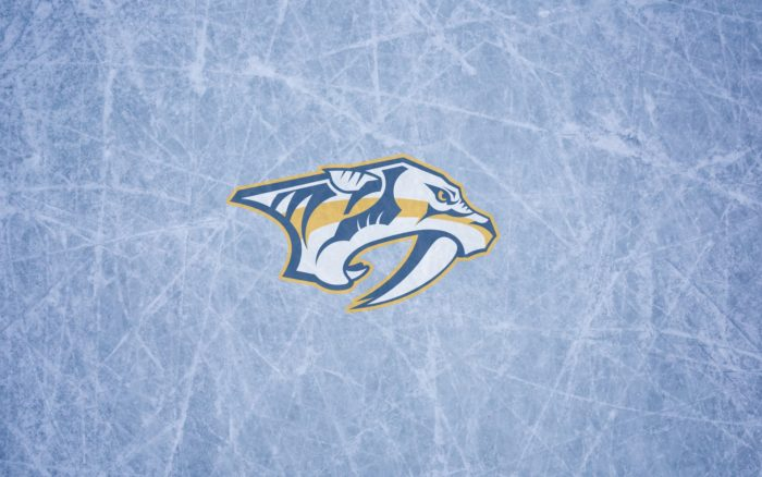 Nashville Predators wallpaper 16x10, 1920x1200, widescreen, with logo on the ice
