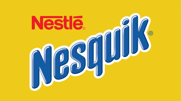 Nesquik logo, logotype, yellow