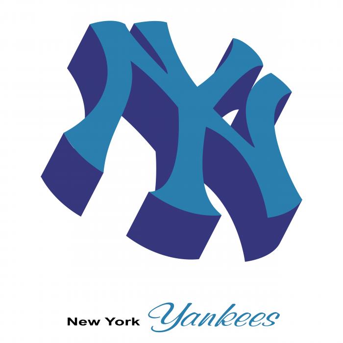 New York Yankees logo blue
