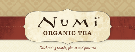 Numi Organic Tea logo, form website