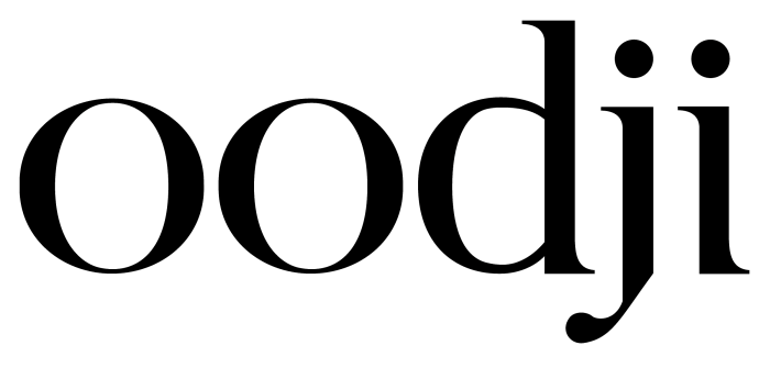 Oodji logotype, full black