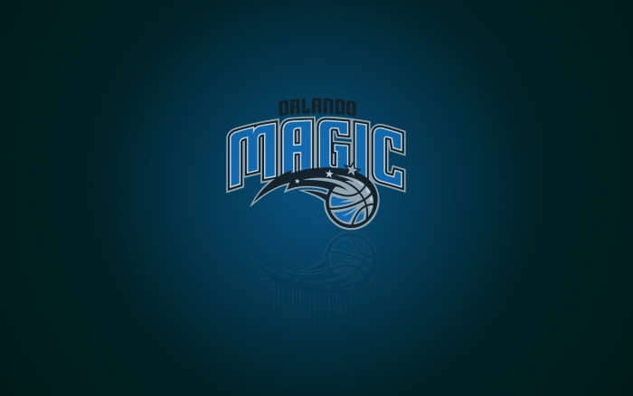 Orlando Magic wallpaper with club logo, wide 1920x1200 px, 16x10
