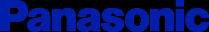 Panasonic logo, logotype, blue