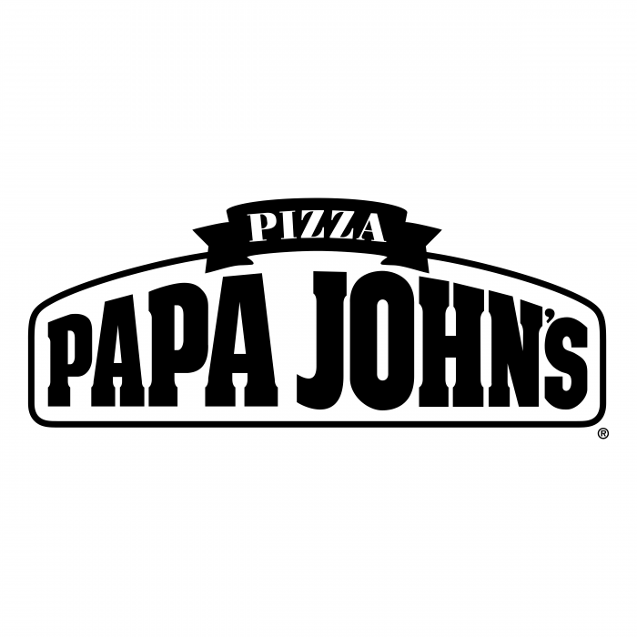 Papa John's Pizza logo black