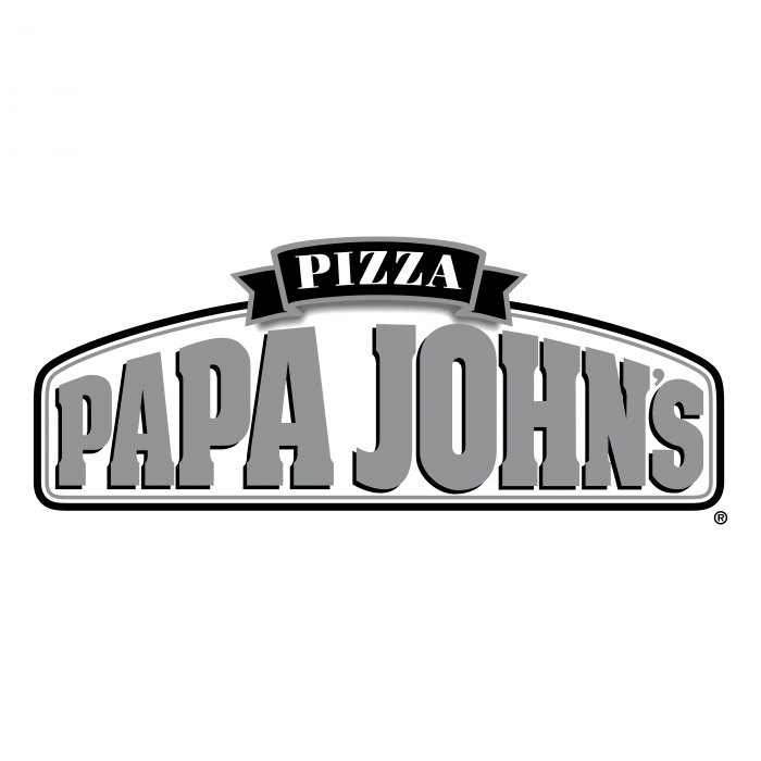 Papa John's Pizza logo grey
