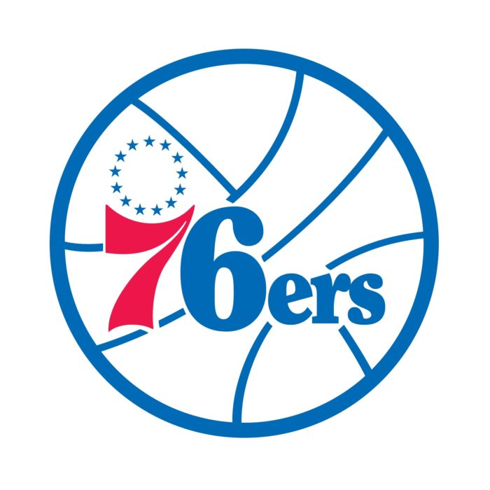 Philadelphia 76ers (sixers) logo, emblem, logotype, 2nd version