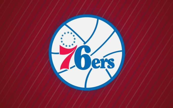 Philadelphia 76ers wallpaper with logo, 1920x1200