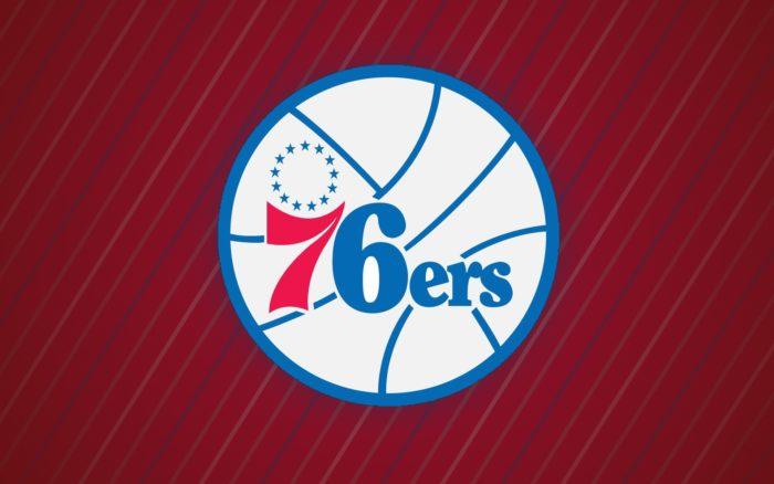 Philadelphia 76ers wallpaper with logo, 1920x1200