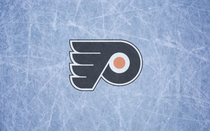 Philadelphia Flyers wallpaper with logo and ice 1920x1200px, 16x10