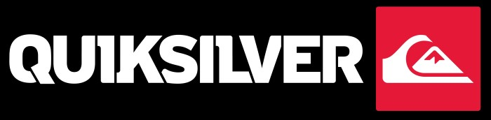 Quiksilver black wordmark and logo