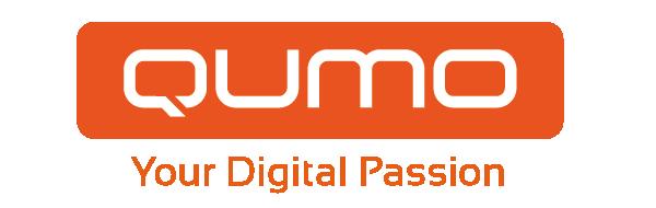 Qumo logo, logotype, slogan