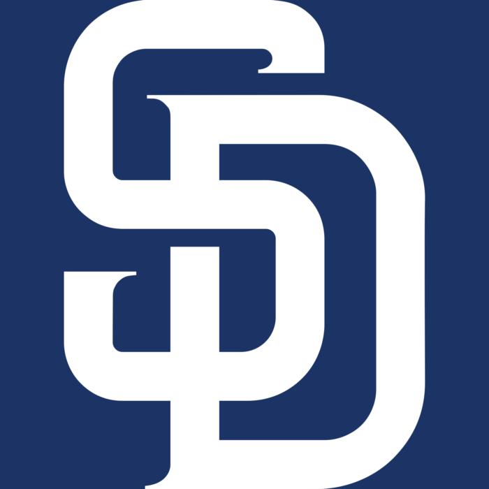 San Diego Padres logotype, cap