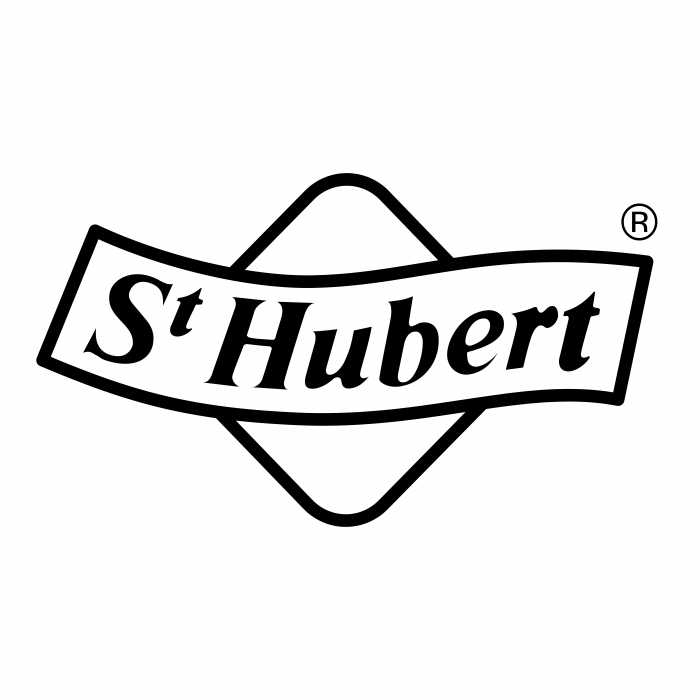 St Hubert logo white
