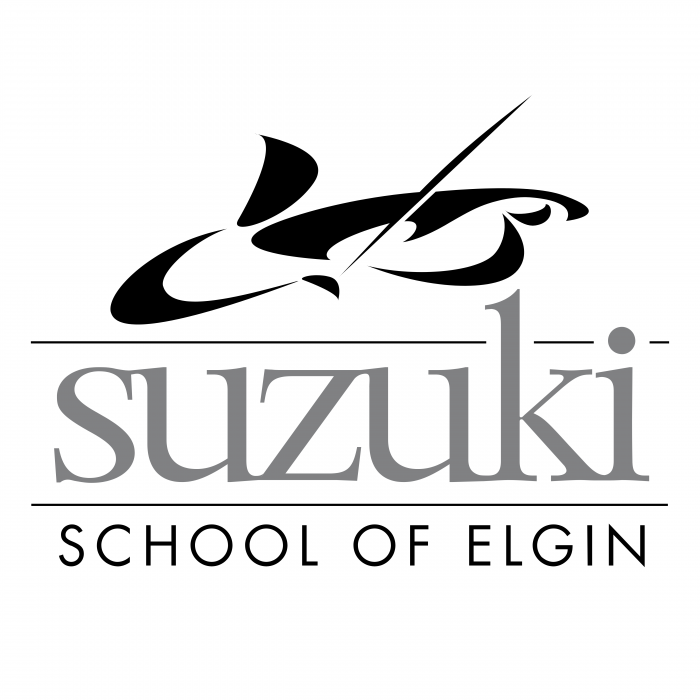 Suzuki School of Elgin logo grey