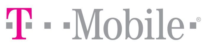 T-Mobile logo, gray